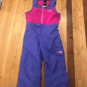 Girls North Face snow pants